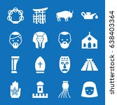 Set Of 16 Culture Filled Icons...