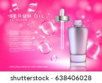 serum dropper on pink... | Shutterstock .eps vector #638406028
