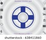 lifebuoy  icon  vector... | Shutterstock .eps vector #638411860