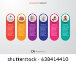 infographic design vector and... | Shutterstock .eps vector #638414410