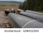 pipeline construction next to... | Shutterstock . vector #638422303