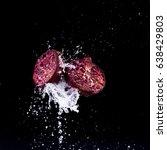 pomegranate whit water splash... | Shutterstock . vector #638429803