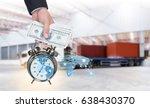 businessman and pocket watch...   Shutterstock . vector #638430370