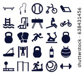 exercise icons set. set of 25... | Shutterstock .eps vector #638431456
