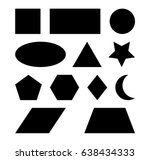 geometric shapes square  circle ... | Shutterstock .eps vector #638434333