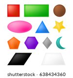 geometric shapes square  circle ... | Shutterstock .eps vector #638434360