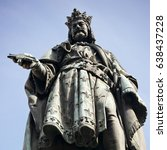statue of the czech king... | Shutterstock . vector #638437228
