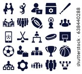team icons set. set of 25 team... | Shutterstock .eps vector #638440288
