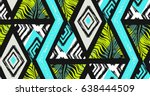 hand drawn vector abstract... | Shutterstock .eps vector #638444509