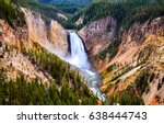 Yellowstone Mountain Waterfall...