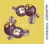 purple mangosteen fruit hand... | Shutterstock .eps vector #638448799
