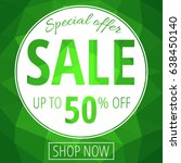 sale banner  circle green low... | Shutterstock .eps vector #638450140