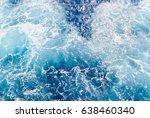 blue water of mediterranean sea ... | Shutterstock . vector #638460340