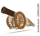 vector image of ancient cannon | Shutterstock .eps vector #638461300
