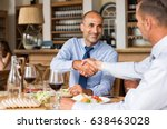 business people shaking hands... | Shutterstock . vector #638463028
