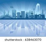 jeddah saudi arabia city... | Shutterstock .eps vector #638463070