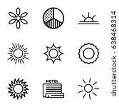 sunrise icons set. set of 9... | Shutterstock .eps vector #638468314