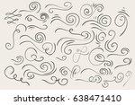 hand drawn vintage... | Shutterstock .eps vector #638471410
