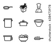 soup icons set. set of 9 soup... | Shutterstock .eps vector #638473978