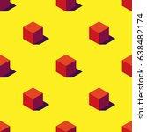 seamless pattern of orange... | Shutterstock .eps vector #638482174