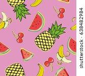 fruits   vector illustration | Shutterstock .eps vector #638482984