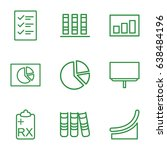 report icons set. set of 9...