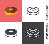 donut   Shutterstock .eps vector #638484304