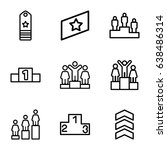 ranking icons set. set of 9...