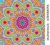 mandala. ethnic round ornament .... | Shutterstock .eps vector #638488096
