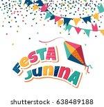festa junina party greeting... | Shutterstock .eps vector #638489188