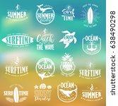 summer typography design... | Shutterstock .eps vector #638490298