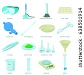 chemical laboratory tools icons ... | Shutterstock .eps vector #638501914
