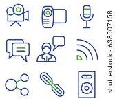 media line icon set | Shutterstock .eps vector #638507158