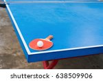 pingpong racket and ball on a... | Shutterstock . vector #638509906