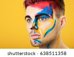 portrait of young man with... | Shutterstock . vector #638511358