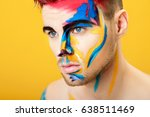 portrait of young man with... | Shutterstock . vector #638511469