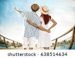 two lovers and honeymoon time  | Shutterstock . vector #638514634
