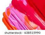 colorful cosmetics on a white... | Shutterstock . vector #638515990