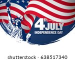 fourth of july independence day ... | Shutterstock .eps vector #638517340
