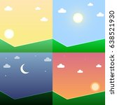 time of day illustration set ... | Shutterstock .eps vector #638521930