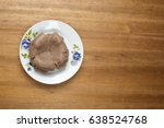 Small photo of A plate of amala isolated