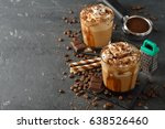 Cold Frappe Coffee With Cream...