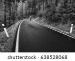 lonely man walking down the... | Shutterstock . vector #638528068