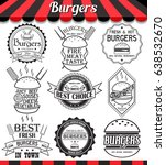 set of labels  stickers  logos... | Shutterstock . vector #638532670