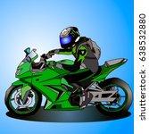 vector illustration  driver of... | Shutterstock .eps vector #638532880