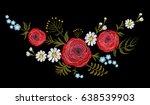 red ranunculus buttercup herb...   Shutterstock .eps vector #638539903