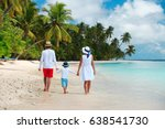 happy family with child walking ... | Shutterstock . vector #638541730