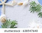 Blank Card  With Sea Shells An...