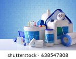 chemical cleaning products for... | Shutterstock . vector #638547808