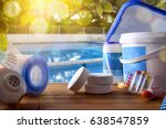 swimming pool service and... | Shutterstock . vector #638547859